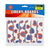 Girly Mini Emery Boards Cool Printed Hearts On Nail Files Manicure And Pedicure