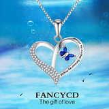 Always My Mother Forever My Friend Love Heart Necklace