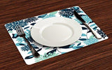 Floral Place Mats Set of 4