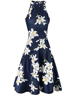 Halter Neck Floral Summer Casual Sundress