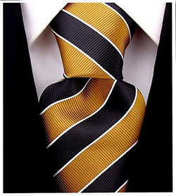 Mens College Striped Necktie