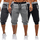 Men's Casual Elastic Waist Sport Short Baggy Pants