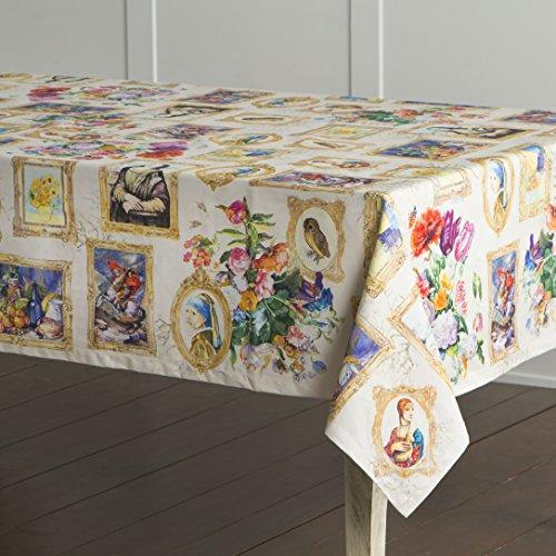 Maison d' Hermine Master Piece 100% Cotton Tablecloth 60 Inch by 60 Inch