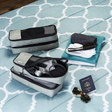 4-Piece Packing Cube Set - Slim, Gray | HOTTOPTRENDS