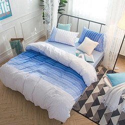 Merryfeel 100% cotton woven Seersucker Stripe Duvet Cover