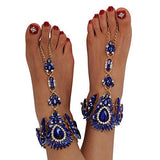 2 Colors Crystal Foot Jewelry