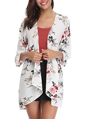 Sleeve Floral Chiffon Casual Loose