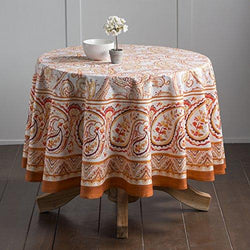 Maison d' Hermine Palatial Paisley 100% Cotton Tablecloth 69 Inch Round.