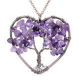 Amethyst Rose Crystal Necklace