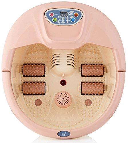 ArtNaturals Foot Spa Massager with Heat Lights and Bubbles Soothe and Relax Tired Feet
