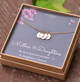 3 Mini Gold Filled Alphabet Personalized Necklace