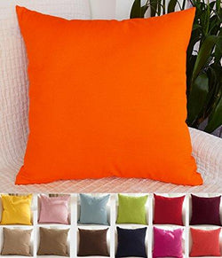 TangDepot Cotton Solid Throw Pillow Covers