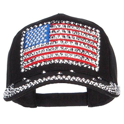 American Flag Embellished Jewel Cap | HOTTOPTRENDS