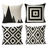 Decorative Throw Pillow Covers Set of 4 Cotton Linen 18 x 18 inch