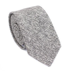 Men's Skinny Tie, Cotton Wool Linen Necktie