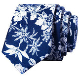 Handmade Skinny Floral Tie with Pocket Square Gift Set