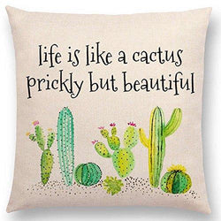 Aremazing Inspirational Quote Succulents Plants Cactus Cotton Linen Home Decor