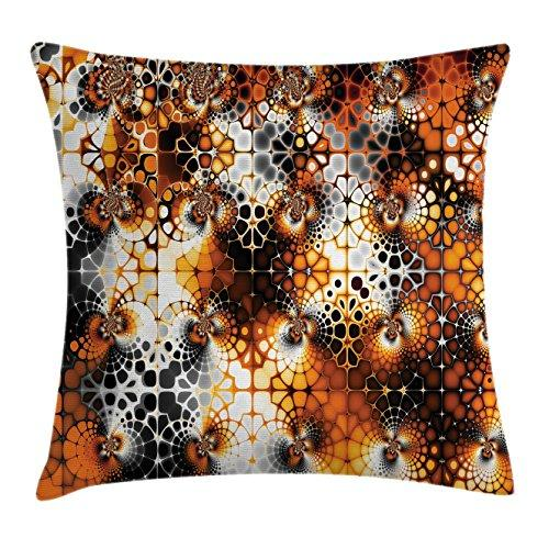 Ambesonne Burnt Orange Decor Throw Pillow Cushion Cover