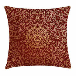 Ambesonne Maroon Throw Pillow Cushion Cover