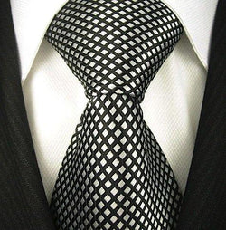 Mens Diamond Pattern Necktie