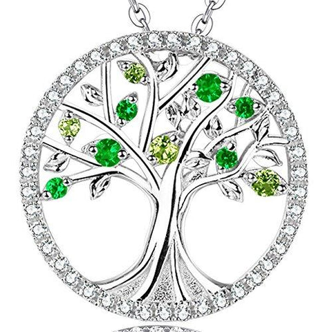 The Tree of Life Emerald Peridot Pendant