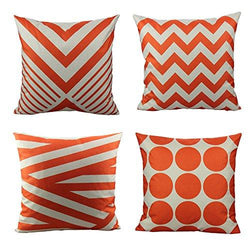 All Smiles Decorative Orange Color Throw Pillow Case Cushion Covers Pillowcase Sets