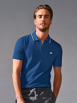 Lacoste polo shirt with a short button band