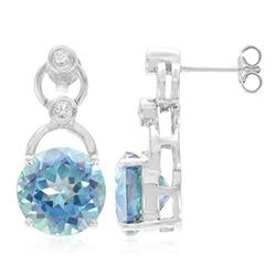 Moonstruck Topaz Silver Earrings