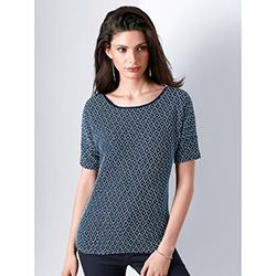 Top with drop shoulder and boat neck