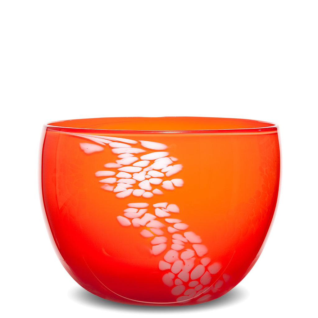 Red Orange/White Spotted Bowl