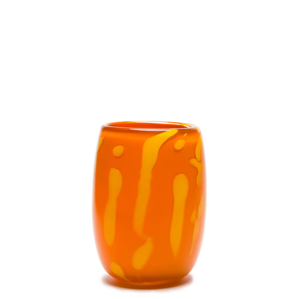 Orange/Yellow Swirl Vase
