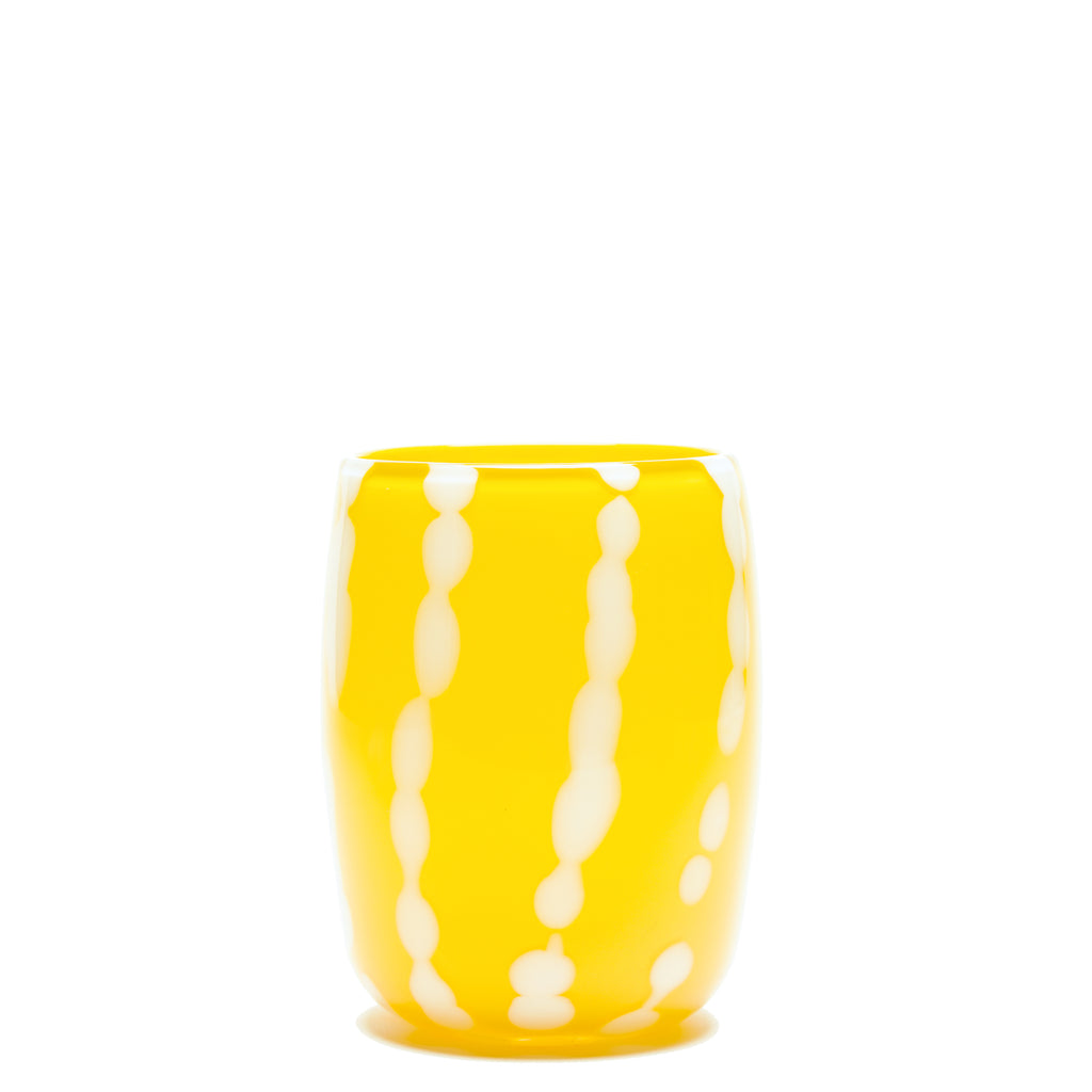 Yellow/White Stroke Vase