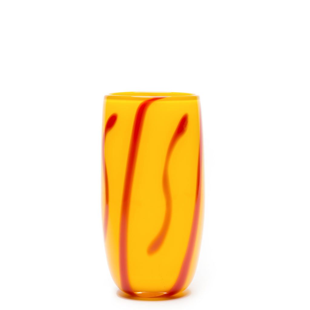 Yellow/Red Stroke Vase