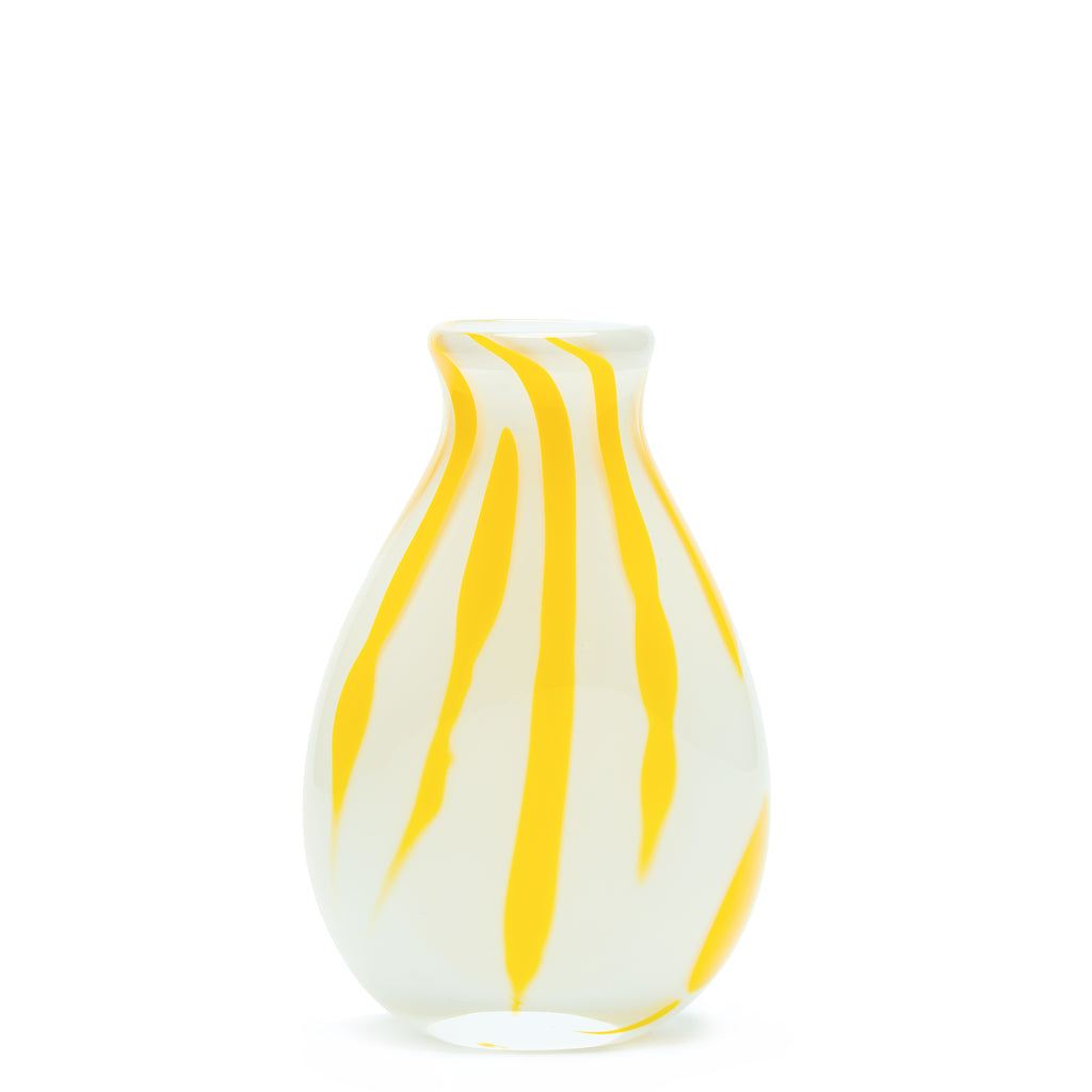 White/Yellow Stroke Vase