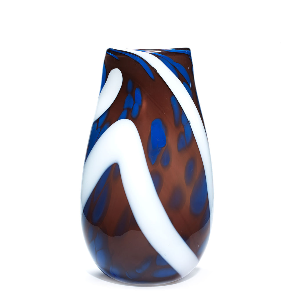 Purple/White Stroke & Blue Spotted Vase