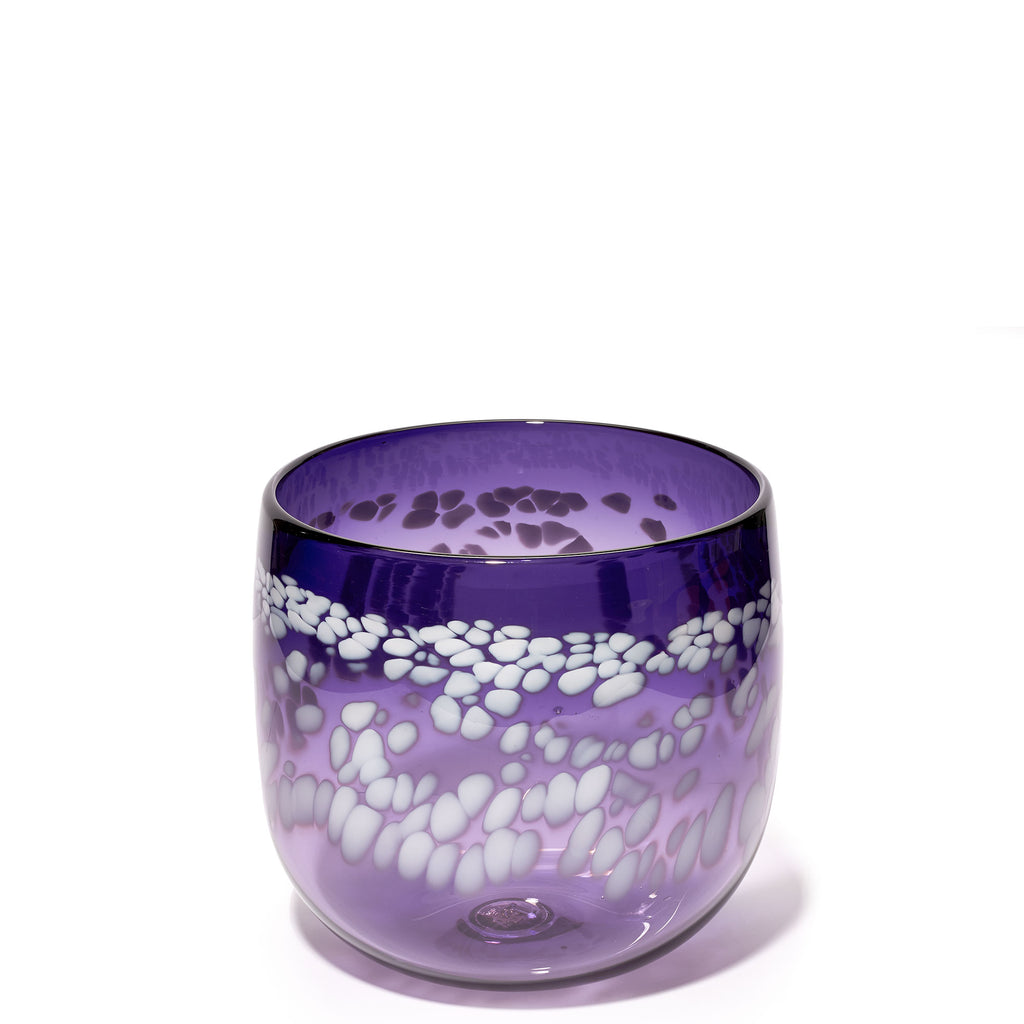 Purple/White Spotted Vase