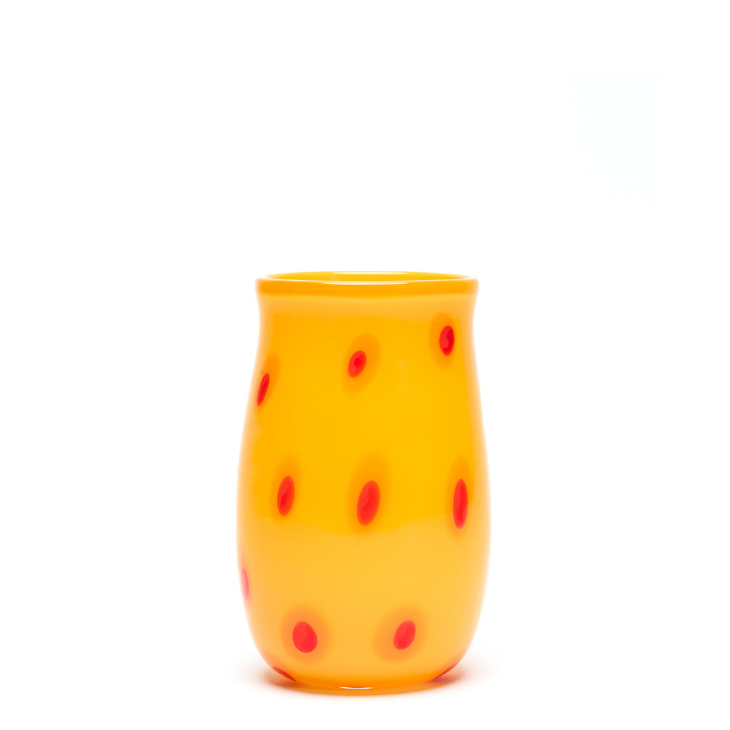 Yellow/Orange/Red Spotted Vase