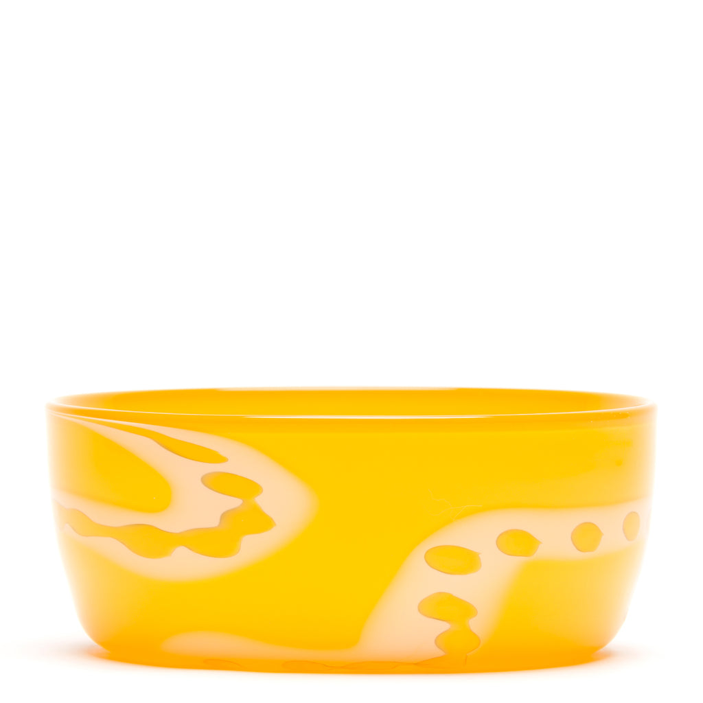Yellow with White/Yellow Swirl Bowl
