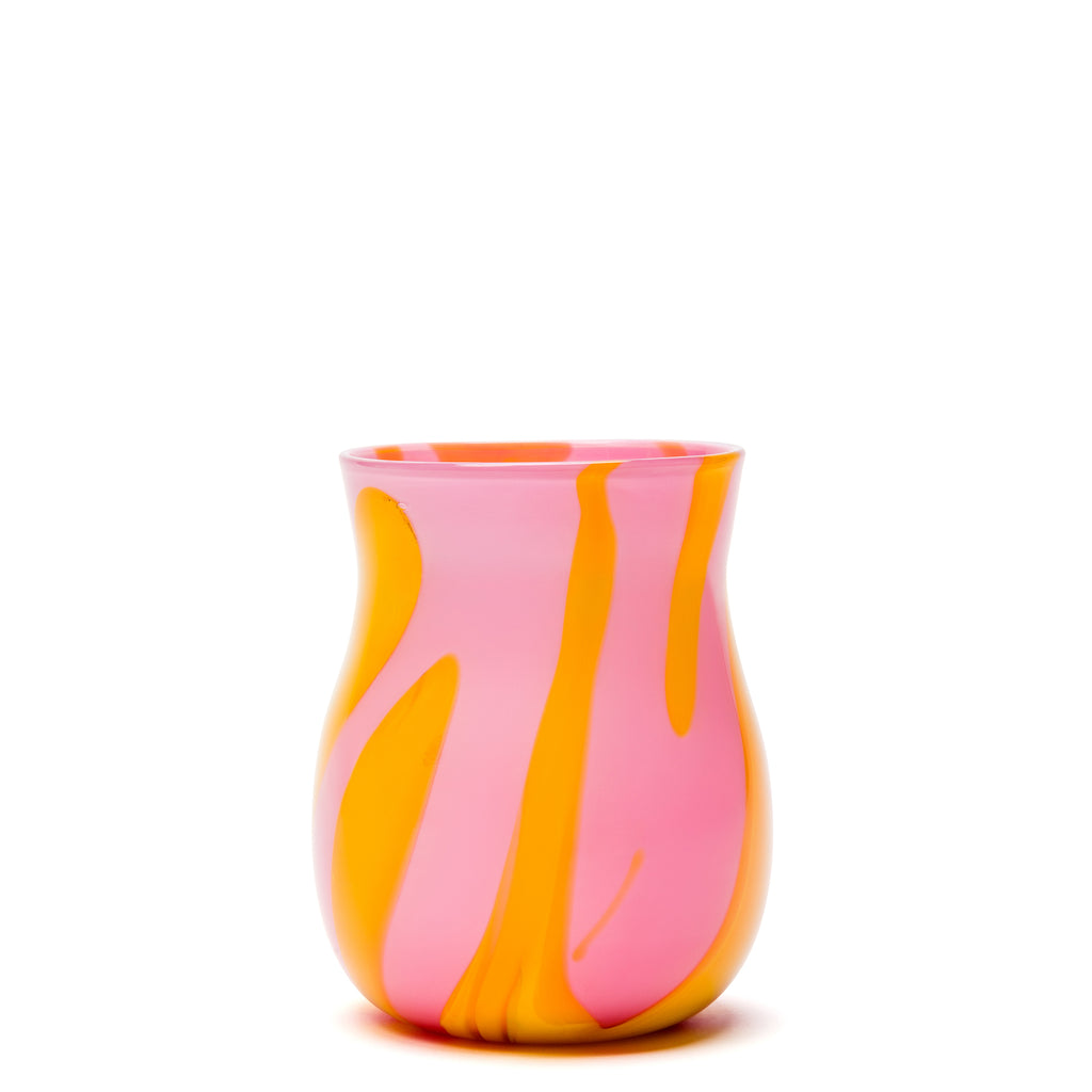 Bright Pink/Yellow Stroke Vase