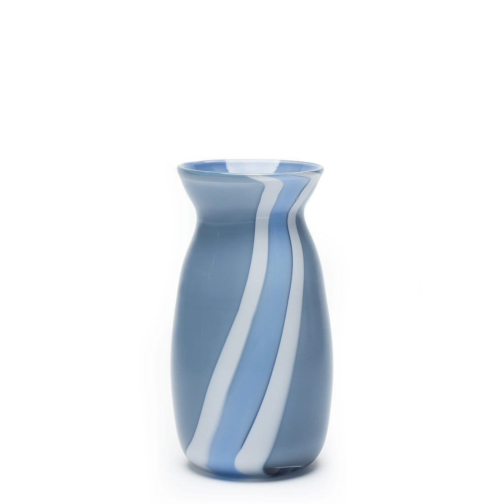 Pigeon Grey/White Stripe Vase