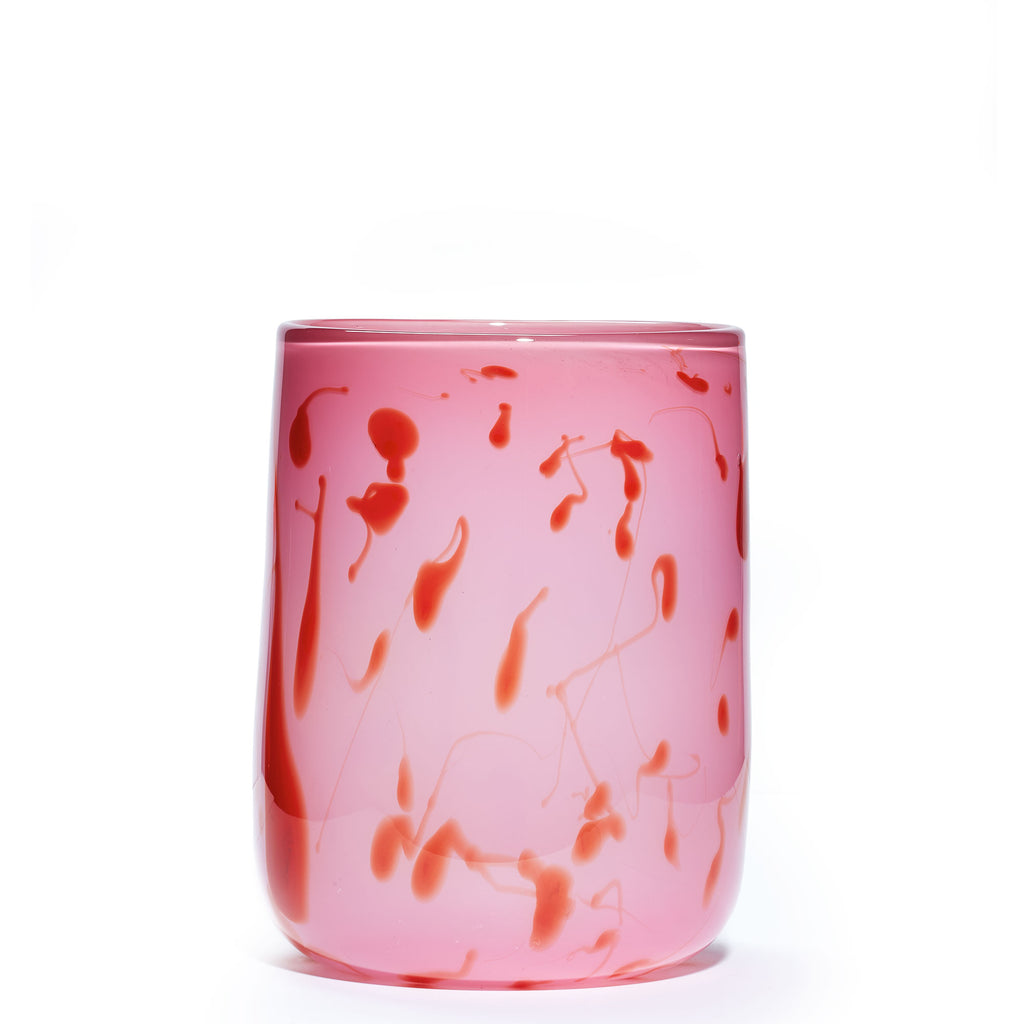 Pink/Red Spotted Vase