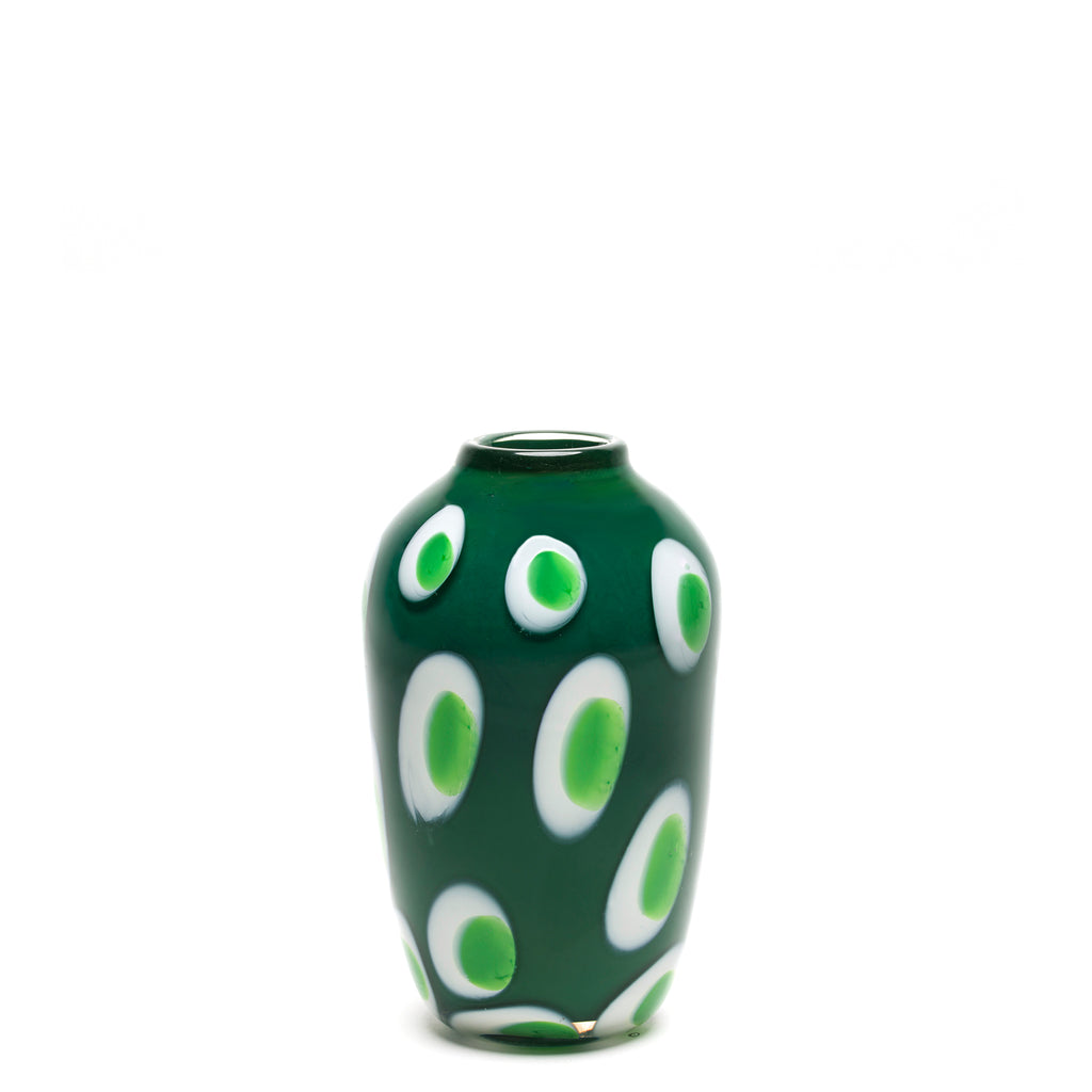 Green with White/Emerald Spotted Vase
