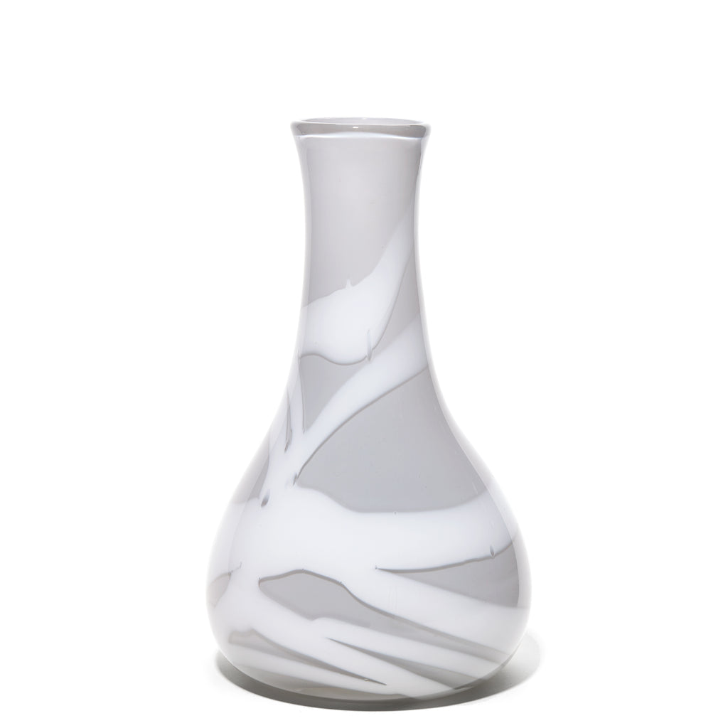 Grey/White Stripe Vase