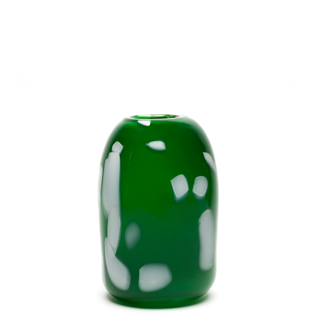Green with White Stroke Vase