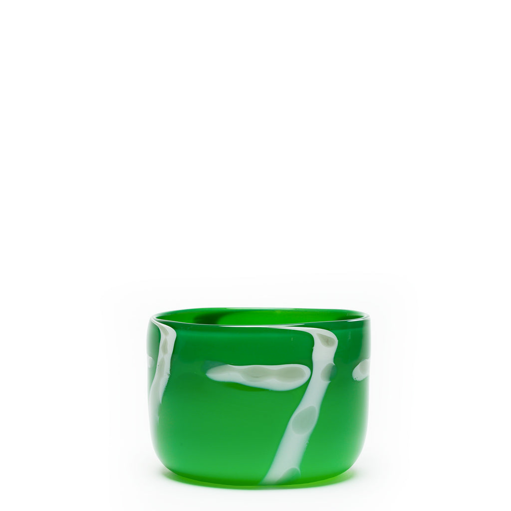 Green/Grey/White Spotted Stroke Bowl