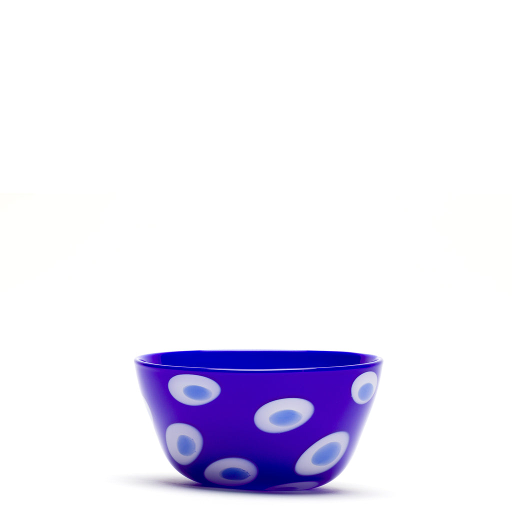 Royal Blue/White/Blue Spotted Bowl