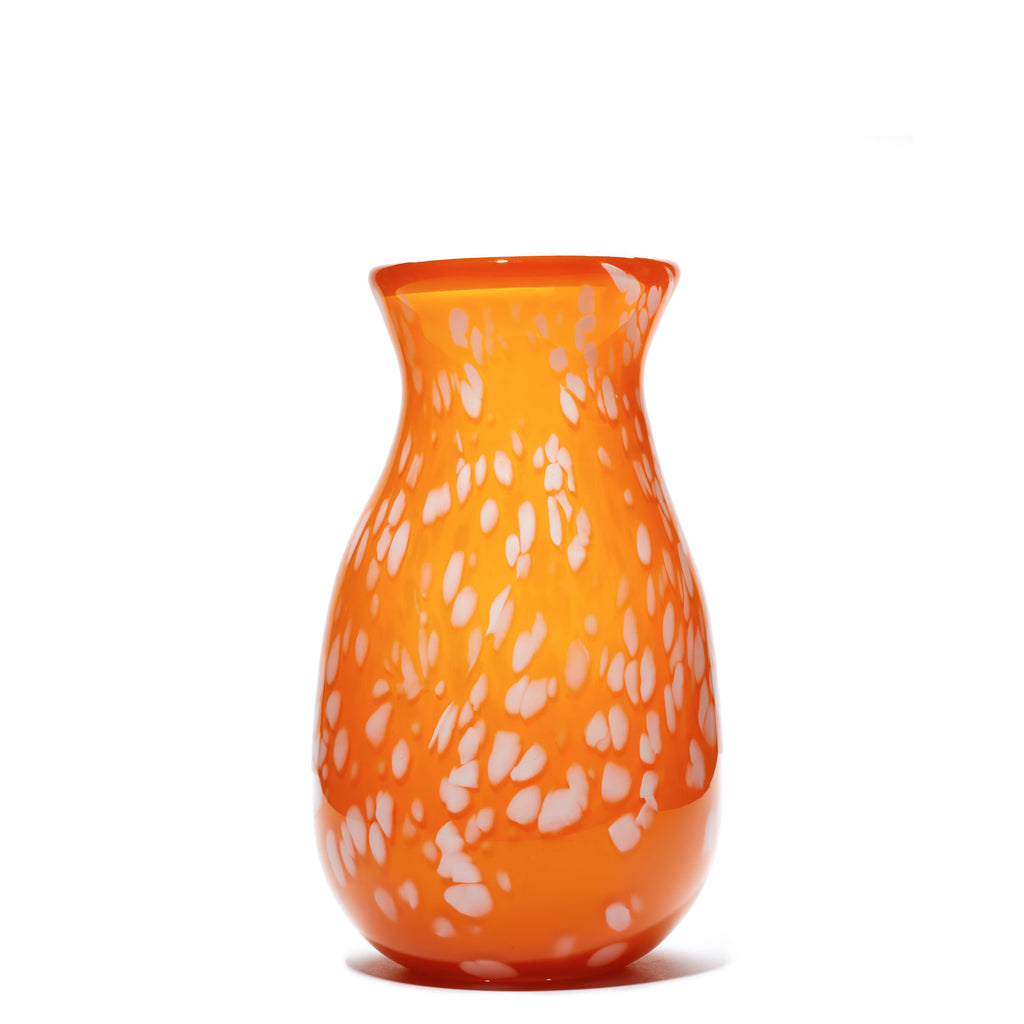 Orange/White Spotted Vase