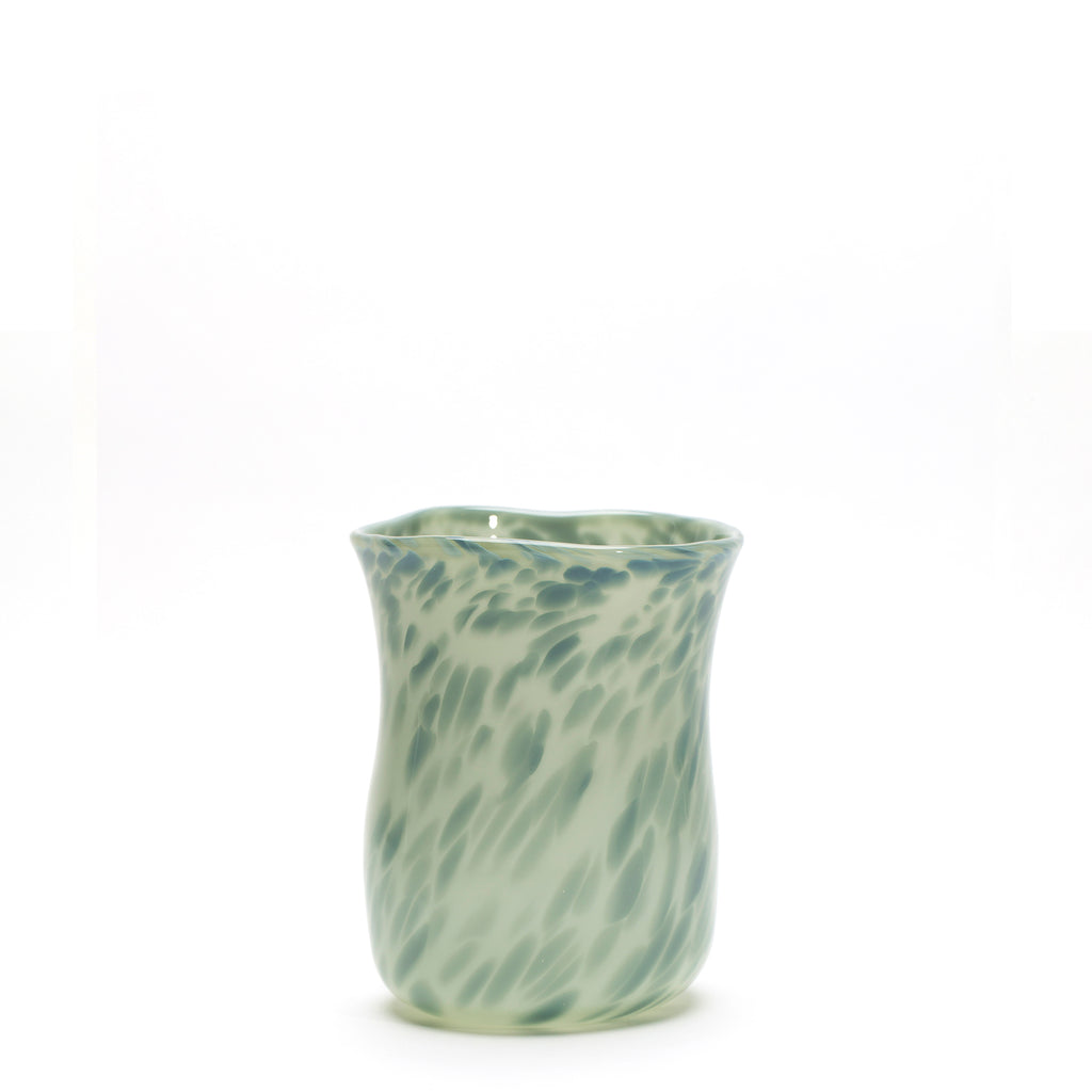 Grey/Blue Grey Spotted Wavy Vase
