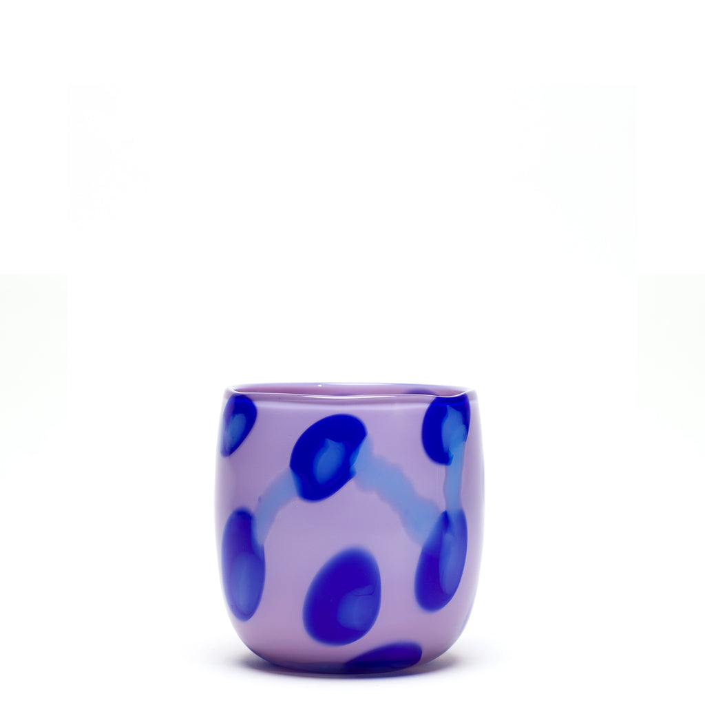 Lilac/Blue Stroke Spotted Vase