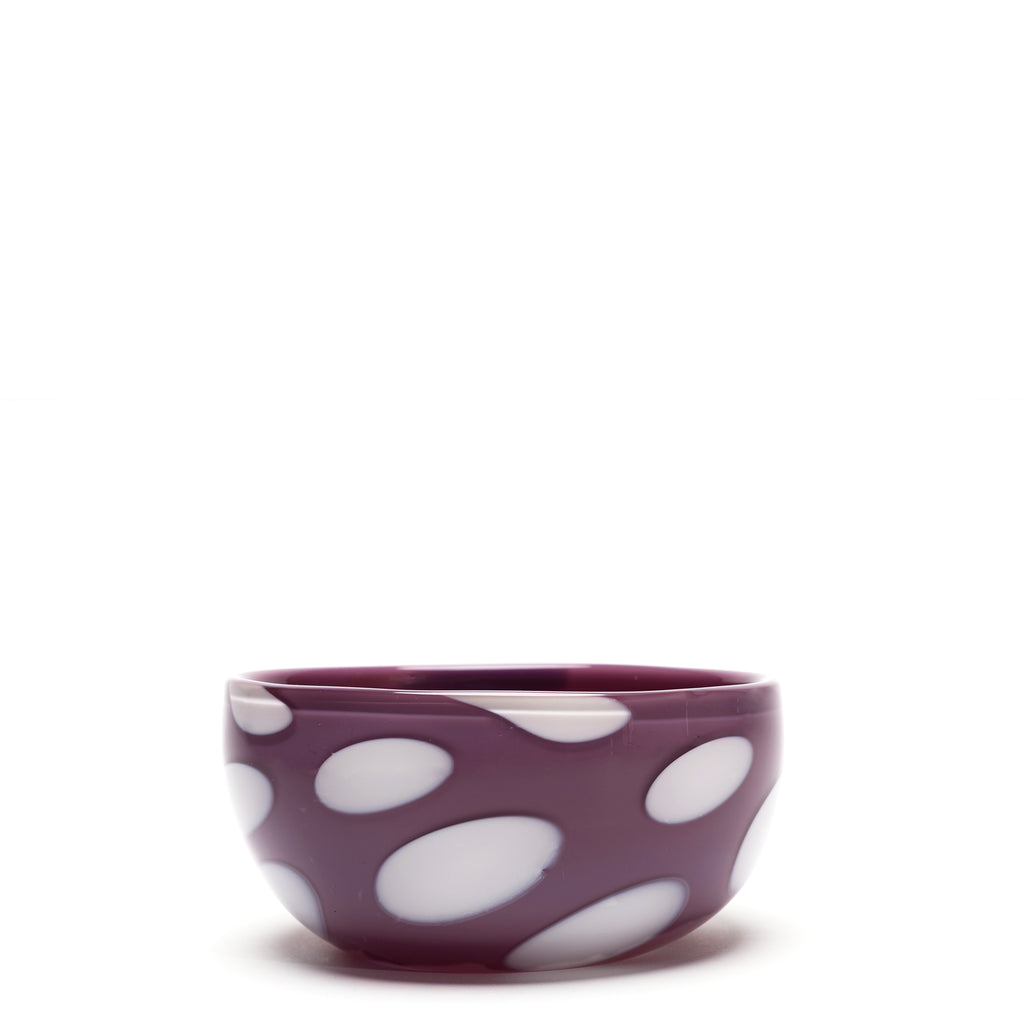 Lilac/White Spotted Bowl